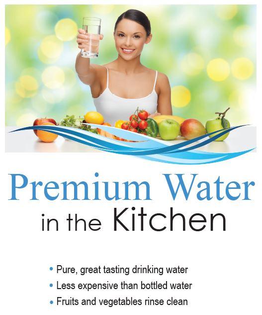 premium water in the kitchen